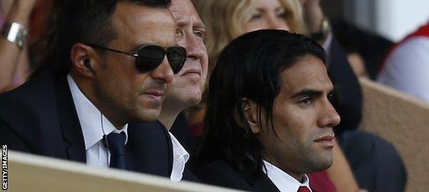 Jorge Mendes with Radamel Falcao