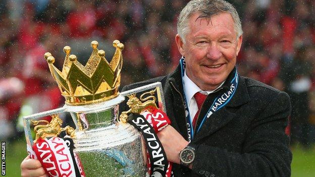 Sir Alex Ferguson signed off with another Premier League title