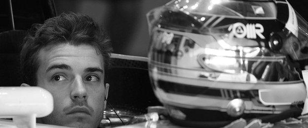 Jules Bianchi sits in the cockpit of his Marussia
