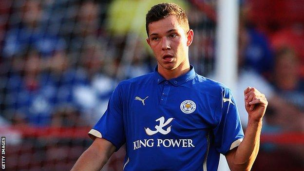 Leicester City striker Tom Hopper