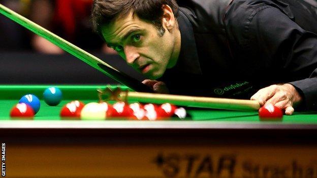 World number three Ronnie O'Sullivan