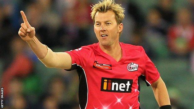 Brett Lee played for the Sydney Sixers in the Big Bash League