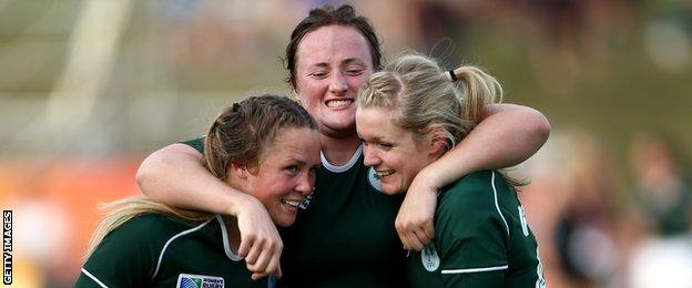 Ireland claimed a historic win over New Zealand at the 2014 Women's Rugby World Cup