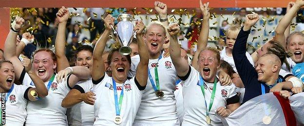 England won the 2014 Women's Rugby World Cup having lost the last three finals