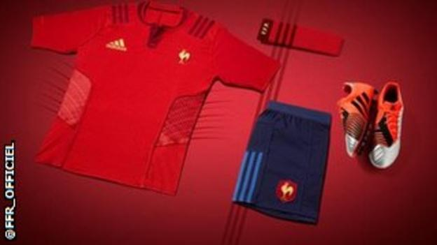 France rugby red shirt