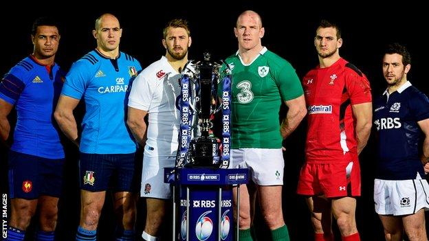 Six Nations captains for 2015
