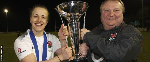 Katy McLean and Gary Street celebrate winning the 2011 Six Nations championship