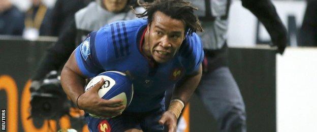 France winger Teddy Thomas