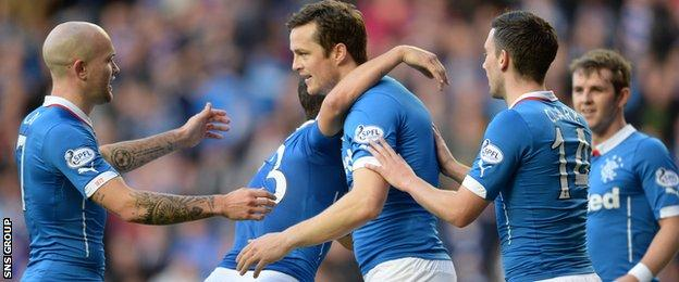 Rangers were 6-1 winners when Raith Rovers visited Ibrox on league duty in October