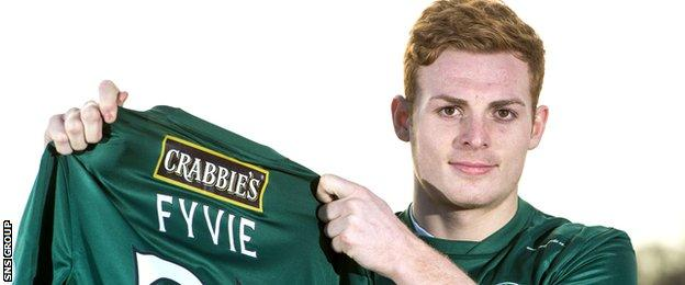 Hibs fans may get a first look at deadline day signing Fraser Fyvie