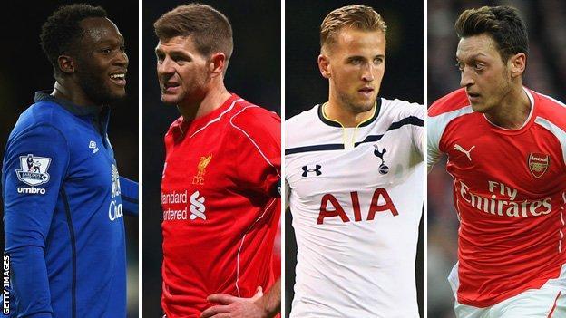 Romelu Lukaku and Steven Gerrard, Harry Kane and Mesut Ozil