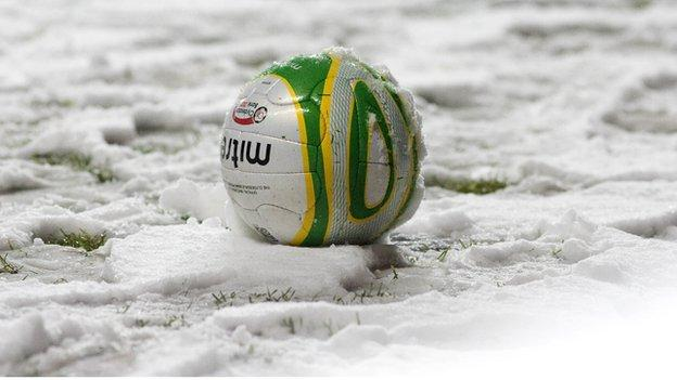 Clyde against Annan is off due to snow on the Broadwood pitch