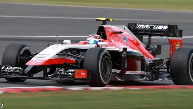 Marussia 2014 F1 car driven by Max Chilton
