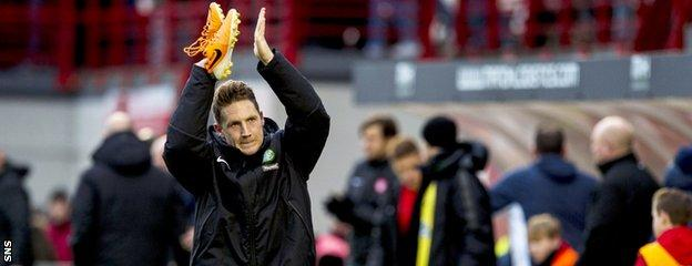 "Kris Commons says he threw boots into the crowd because they were ""old"" ones"