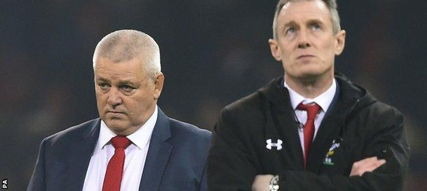 Warren Gatland (left) and Rob Howley have some thinking to do after this defeat