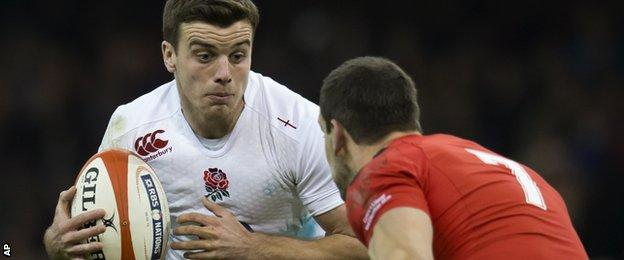 England 10 George Ford takes on Wales captain Sam Warburton