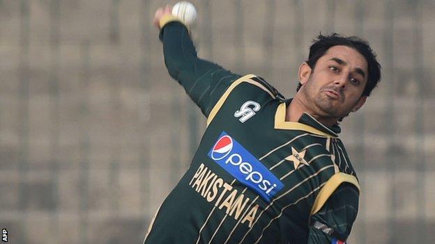 Pakistan spinner Saaed Ajmal