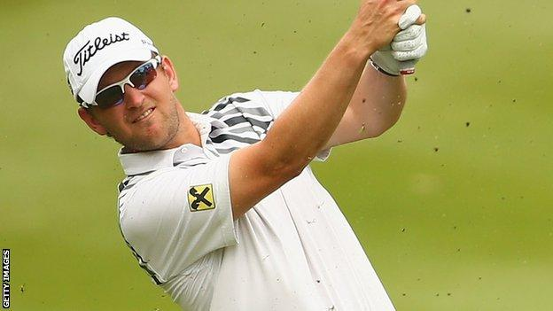Bernd Wiesberger in second-round action at the Malaysia Open