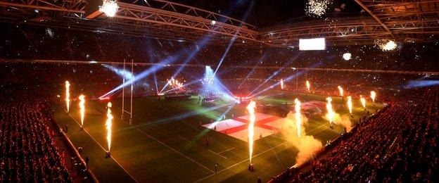 Wales v England, the Millennium Stadium pre match
