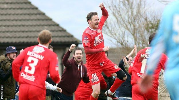 Gary Twigg was on target for Portadown against Portstewart