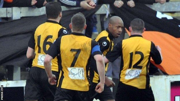 Miguel Chines found the net for Carrick Rangers
