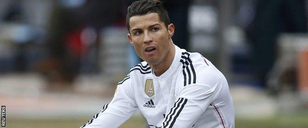 Cristiano Ronaldo looks frustrated in Real Madrid's 4-0 defeat against Atletico Madrid