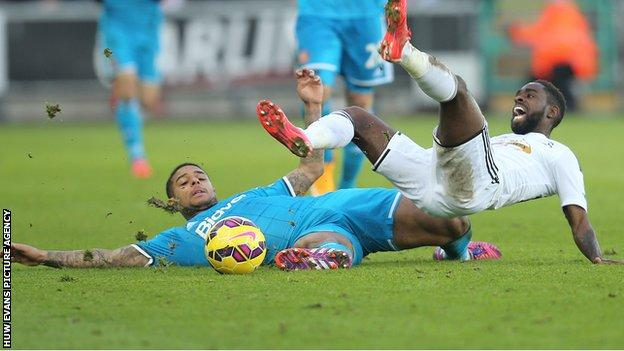 Swansea had to battle hard for their point after falling behind to Sunderland against the run of play