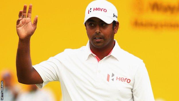 Anirban Lahiri at the Malaysian Open