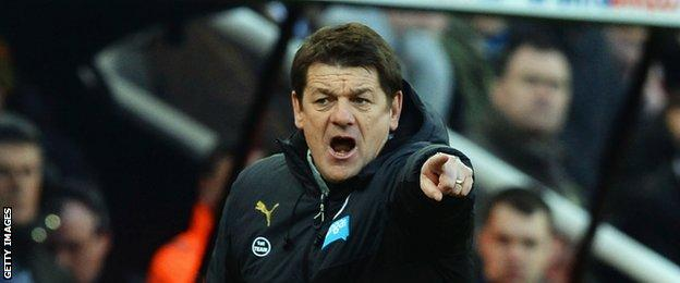 Newcastle United head coach John Carver