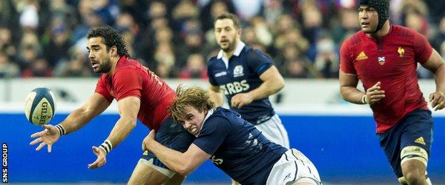 Scotland tackled like lions in Paris but could not stem the power of the home forwards