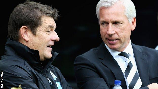 John Carver and Alan Pardew