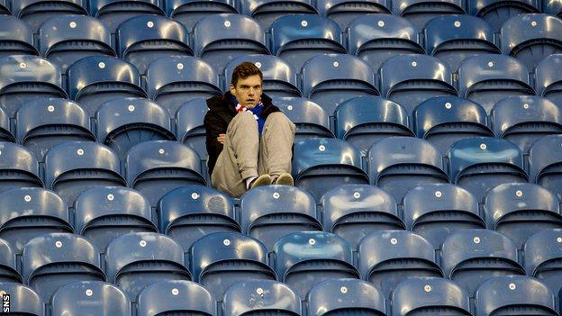 Rangers fans were left dejected by another cup defeat to Raith Rovers.