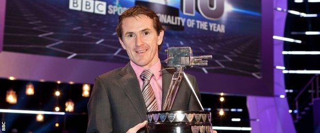 AP McCoy with his 2010 BBC Sports Personality of the Year award