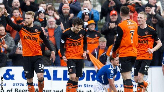 Dundee United were 3-0 winners at Stair Park
