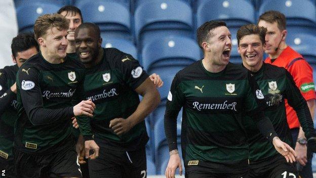 Ryan Conroy and team-mates celebrate