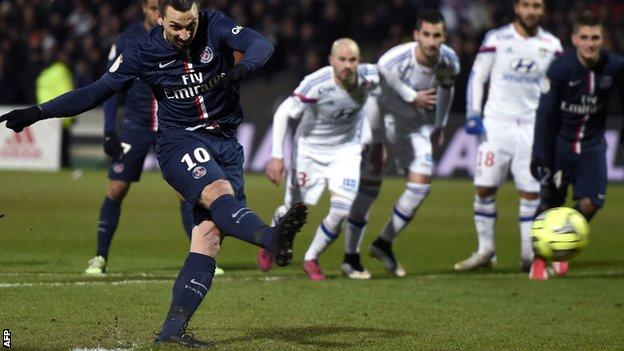 Zlatan Ibrahimovic levelled with a penalty for PSG