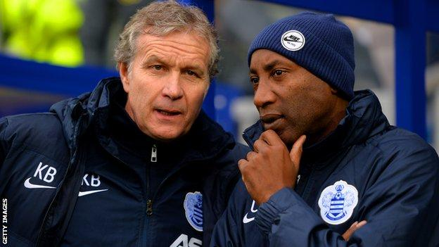 QPR caretaker manager Chris Ramsey (right) and coach Kevin Bond