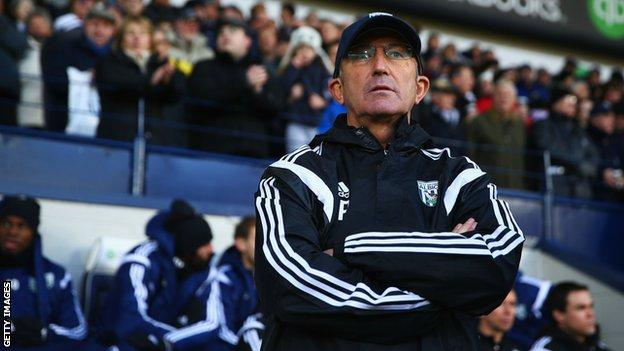 Tony Pulis has managed Stoke, Crystal Palace and West Brom in the top flight