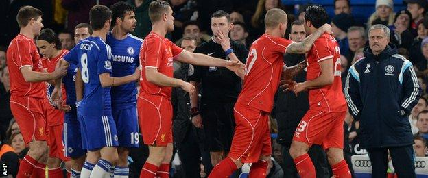 Aftermath of Diego Costa's stamp on Liverpool's Emre Can