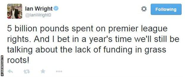 Ian Wright tweet