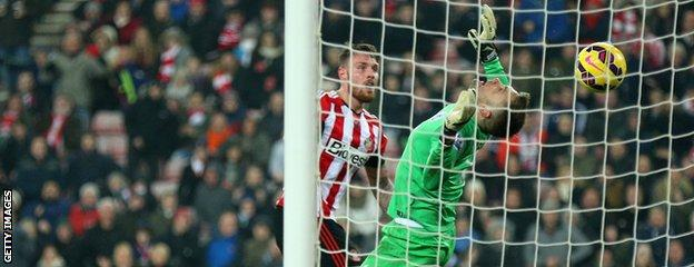 Rob Green pulls off a save