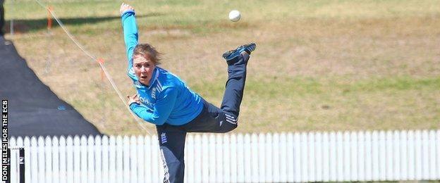 England spinner Rebecca Grundy