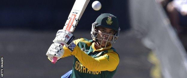 South Africa's JP Duminy