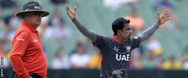 UAE spinner Nasir Aziz