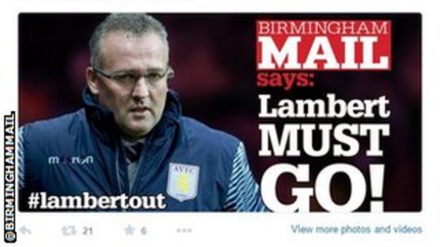 Paul Lambert Birmingham Mail