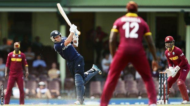 West Indies beat Scotland by three runs