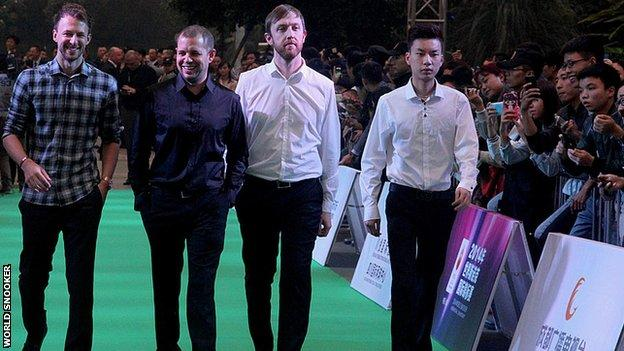 Judd Trump at a snooker event in Chengdu