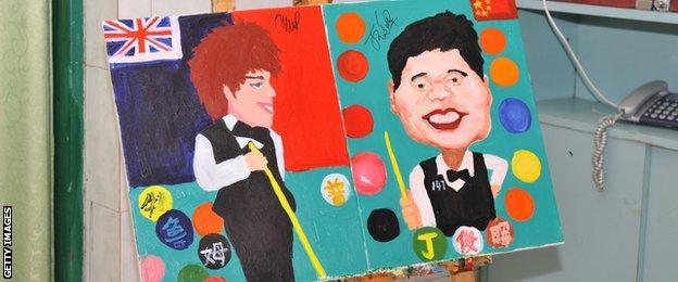 Judd Trump painting