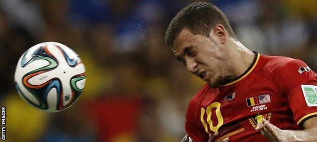 Hazard's Belgium side were beaten in the World Cup quarter-finals by Argentina