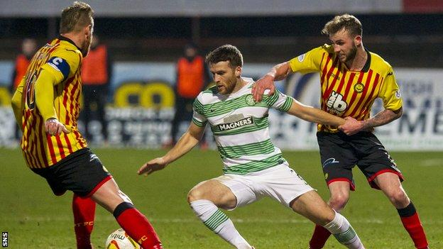 Partick Thistle and Celtic players